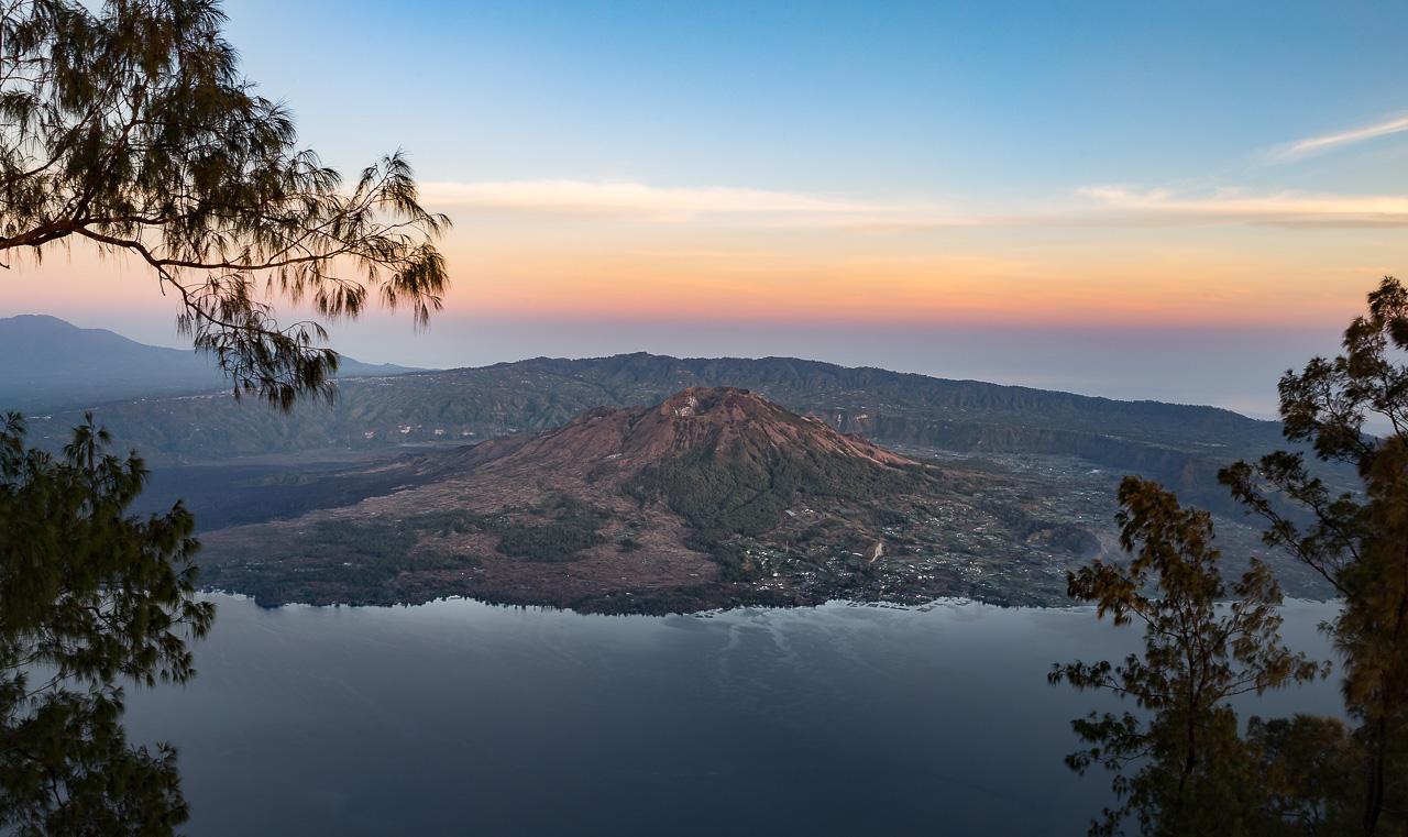 Batur mountain view lake