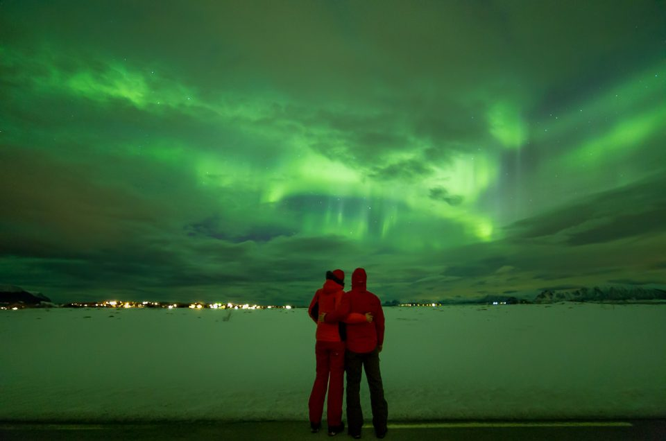 In the Footsteps of Aurora Borealis in the Lofoten Islands, Norway
